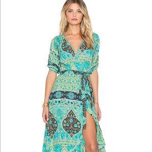 Spell Aloha fox wrap dress